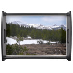 Sierra Nevada Mountains and Snow at Yosemite Serving Tray