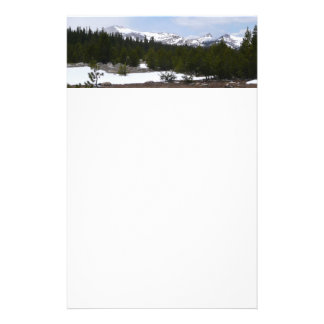 Sierra Nevada Mountains and Snow at Yosemite Stationery