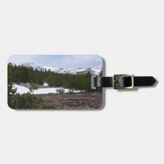 Sierra Nevada Mountains and Snow Tag For Bags