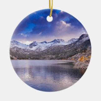 Sierra Nevada Mountains, Autumn, CA Ceramic Ornament