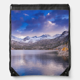 Sierra Nevada Mountains, Autumn, CA Drawstring Backpack