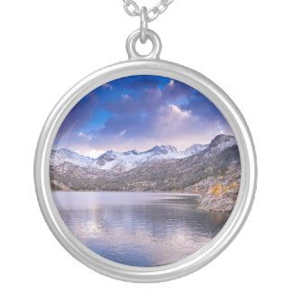 Sierra Nevada Mountains, Autumn, CA Silver Plated Necklace