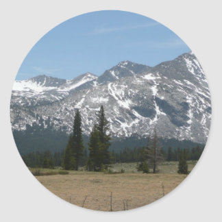 Sierra Nevada Mountains I from Yosemite Classic Round Sticker