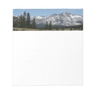 Sierra Nevada Mountains I from Yosemite Notepad