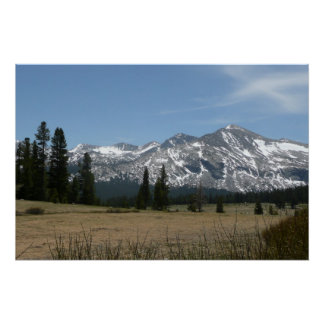 Sierra Nevada Mountains I from Yosemite Poster
