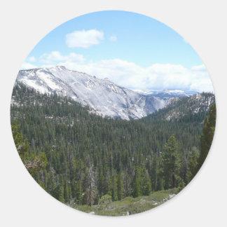 Sierra Nevada Mountains II Classic Round Sticker