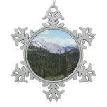 Sierra Nevada Mountains II from Yosemite Snowflake Pewter Christmas Ornament