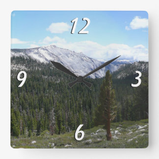 Sierra Nevada Mountains II from Yosemite Square Wall Clock