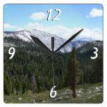 Sierra Nevada Mountains II Square Wall Clock