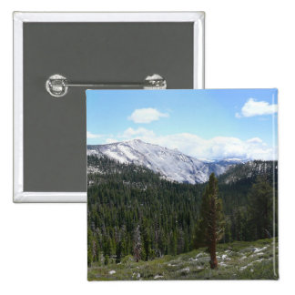 Sierra Nevada Mountains II Yosemite National Park 2 Inch Square Button