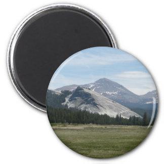 Sierra Nevada Mountains III Yosemite National Park 2 Inch Round Magnet