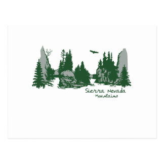 Sierra Nevada Mountains & Trees Postcard