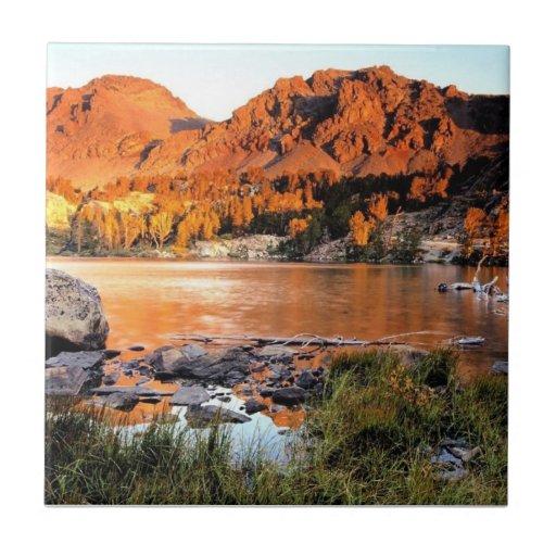 Sierra Nevada Mts, California Azulejo Cuadrado Pequeño