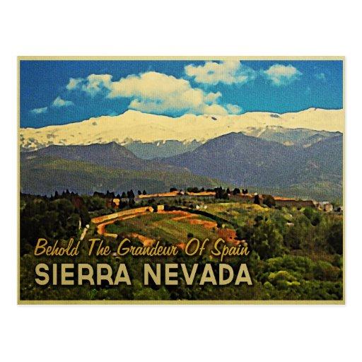 Sierra Nevada Spain Postcard