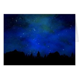 Sierra Nevadas Night Sky Greeting Card