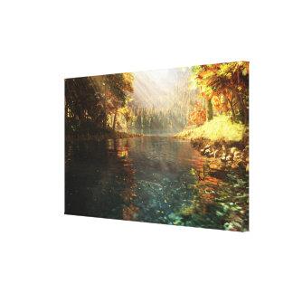 Sierra (otoño) lienzo envuelto para galerías