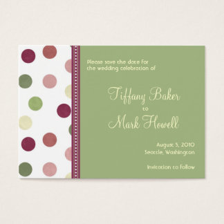 Sierra Save the Date Business Card