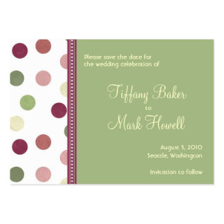 Sierra Save the Date Large Business Cards (Pack Of 100)