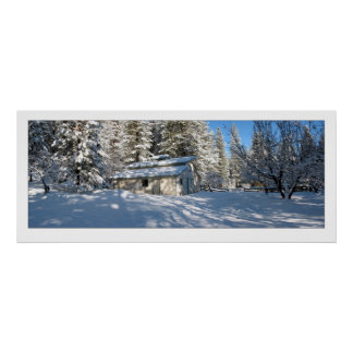 Sierra Snows and Barn - Poster