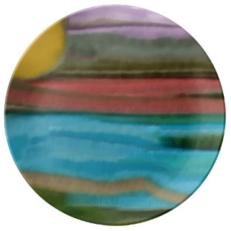 Sierra Sunrise Abstract Art Plate