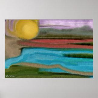 Sierra Sunrise Abstract Art Poster