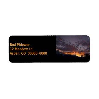 Sierra Sunset 1 Black Address Label label