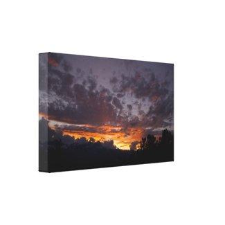 Sierra Sunset 1 Wrapped Canvas Print wrappedcanvas