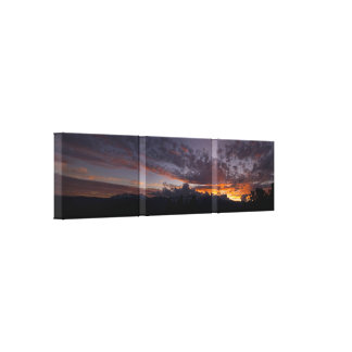 Sierra Sunset  Panoramic Wrapped Canvas Print