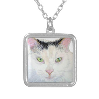Sierra the Cat Silver Plated Necklace