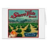 Sierra Vista Brand Citrus Crate Label