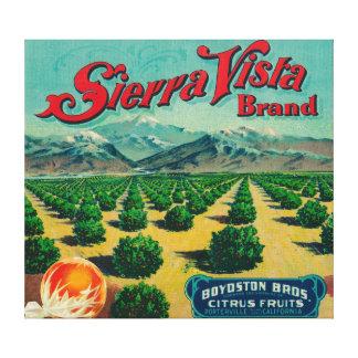 Sierra Vista Brand Citrus Crate Label Stretched Canvas Prints