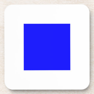 SIERRA White with Blue Square Coaster