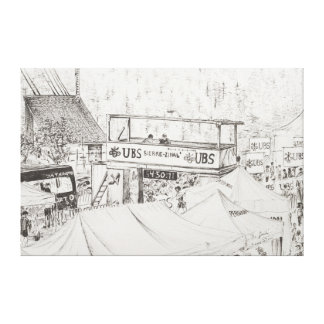 Sierre to Zinal Mountain Race The Finish 2012. Canvas Print