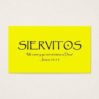 Siervitos  (Tarjeta) Business Card