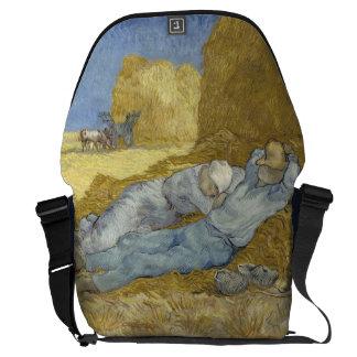 Siesta after Millet by Vincent Van Gogh Courier Bag