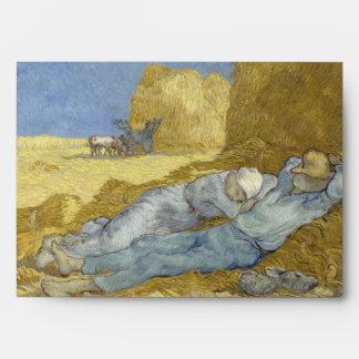 Siesta after Millet by Vincent Van Gogh Envelope