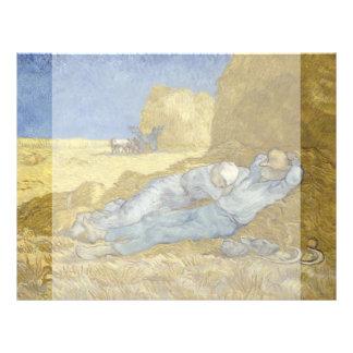 Siesta after Millet by Vincent Van Gogh Full Color Flyer