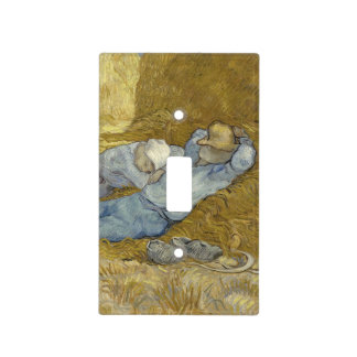 Siesta after Millet by Vincent Van Gogh Light Switch Cover