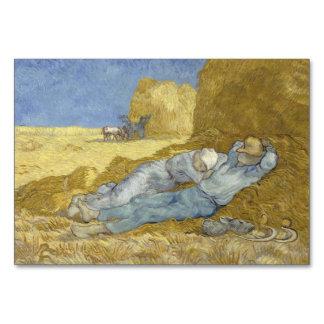 Siesta after Millet by Vincent Van Gogh Table Card