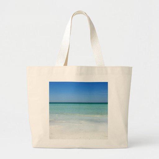 Siesta Beach Gulf Coast Canvas Bags