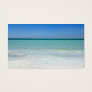 Siesta Beach Gulf Coast Business Card