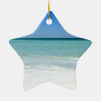 Siesta Beach Gulf Coast Ceramic Ornament