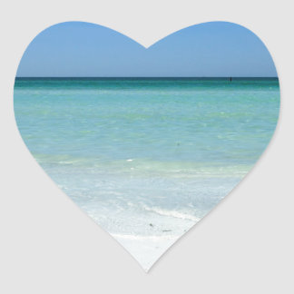 Siesta Beach Gulf Coast Heart Sticker
