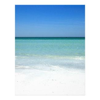 Siesta Beach Gulf Coast Personalized Letterhead