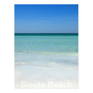 Siesta Beach Gulf Coast Postcard