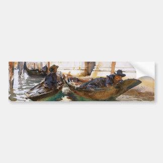 Siesta de los gondoleros' de John Singer Sargent Pegatina Para Auto