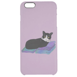 Siesta del gato del smoking funda clear para iPhone 6 plus