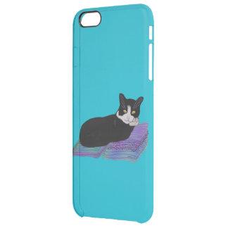 Siesta del gato del smoking funda clearly™ deflector para iPhone 6 plus de unc