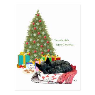 Siesta del navidad de Terrier del escocés Postal