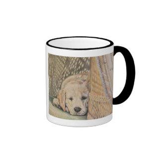 Siesta del perrito taza a dos colores